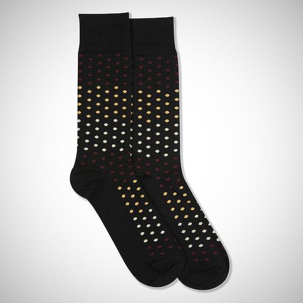 Wine Flight Black Pin Dot Sock