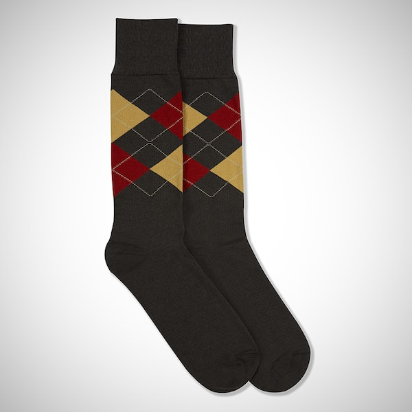 Fall For You Gray Argyle Sock