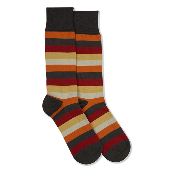 Fall For You Gray Striped Sock