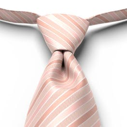 Blush Pre-Tied Striped Tie