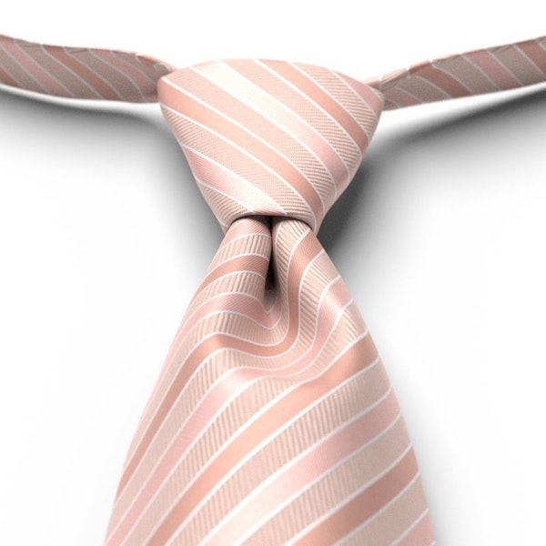 Blush Striped Pre-Tied Tie
