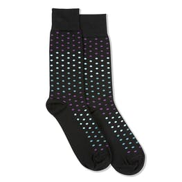 Persian Plum, Teal Blue, & Capri Black Pin Dot Socks