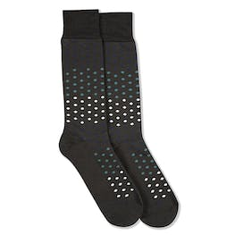 Dark Navy, Teal Blue, & White Gray Pin Dot Socks