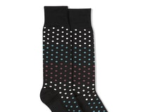 Petal, Teal Blue, & Chianti Rose Black Pin Dot Socks