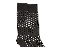 Black, Blush, & Silver Gray Pin Dot Socks