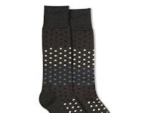Sangria, Steel Blue, & Champagne Gray Pin Dot Socks