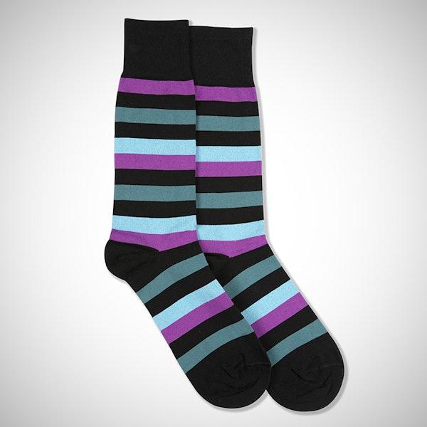 """""""I Do"""" Black Striped Socks"""