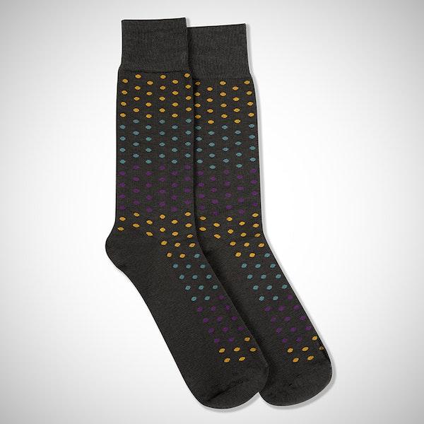 """I Do"" Gray Pin Dot Socks"