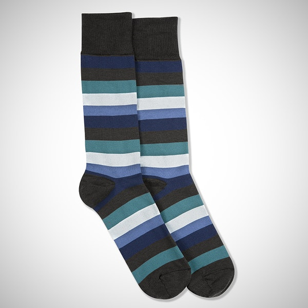 Here's to You Gray Striped Socks