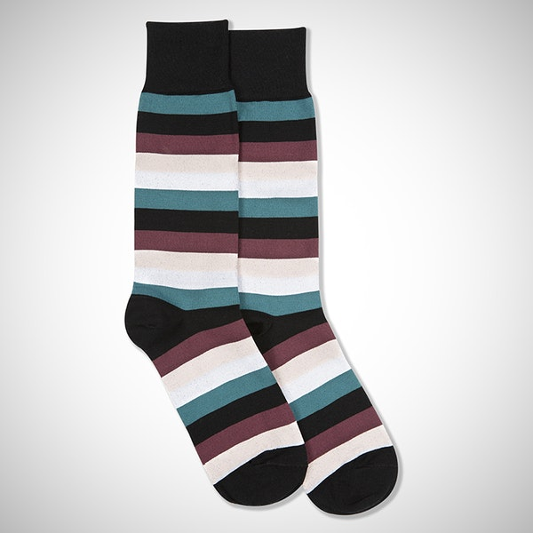 Perfect Pair Black Striped Socks