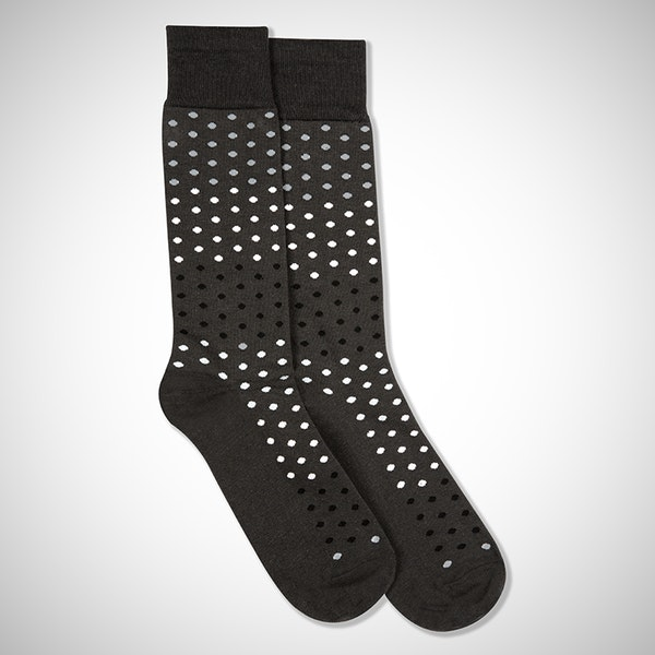 Blushing Bride Gray Pin Dot Socks