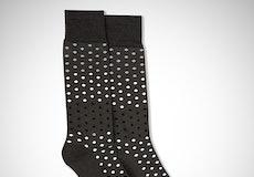 Black, Blush, & Silver Gray Pin Dot Socks