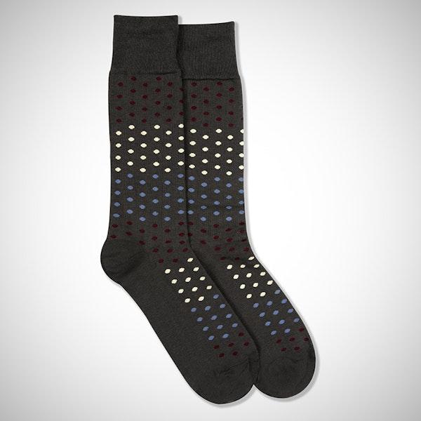 """Cheers"" Gray Pin Dot Socks"