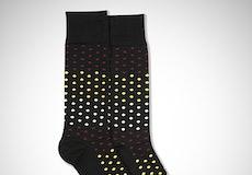 Sangria, Midas Gold, & Champagne Black Pin Dot Socks