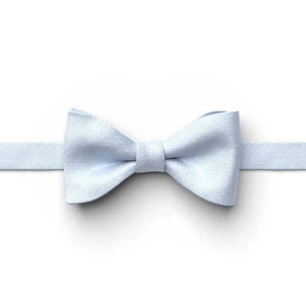 Ice Blue Pin Dot Pre-Tied Bow Tie