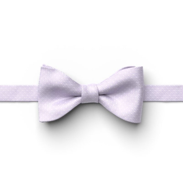 Lilac and White Pin Dot Pre-Tied Bow Tie