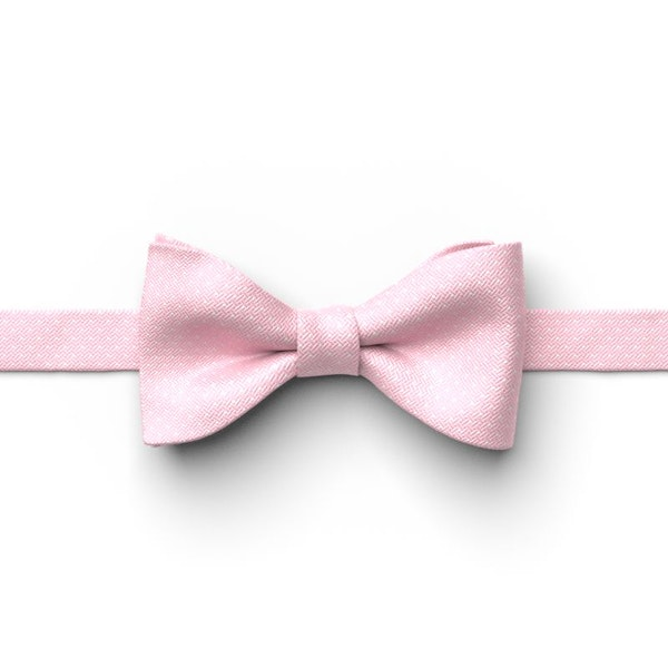 Tickled and White Pin Dot Pre-Tied Bow Tie