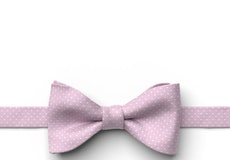 Bouquet and White Pin Dot Pre-Tied Bow Tie