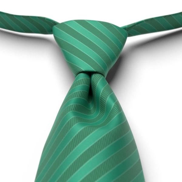 Emerald Striped Pre-Tied Tie
