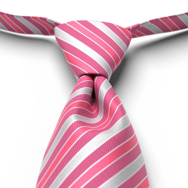 Begonia Striped Pre-Tied Tie