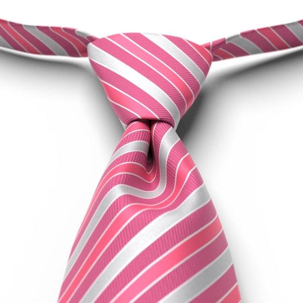 Begonia Striped Pre-Tied Tie
