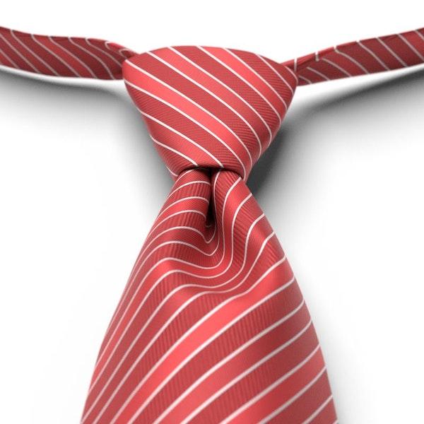 Apple Striped Pre-Tied Tie