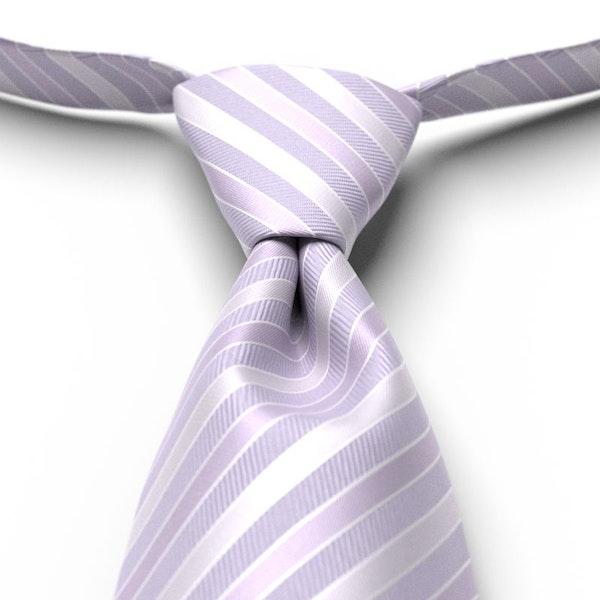 Lilac Striped Pre-Tied Tie
