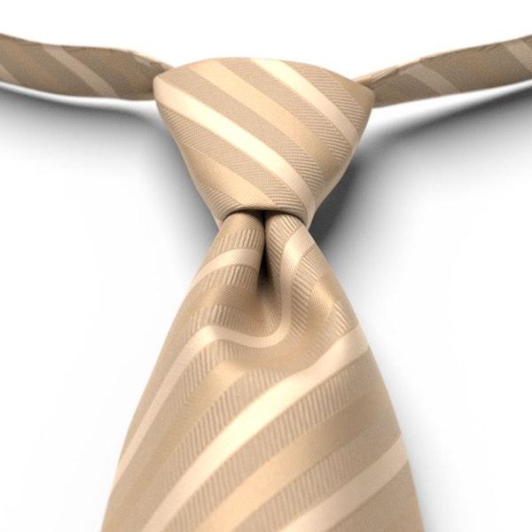Toffee Striped Pre-Tied Tie