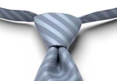 Steel Blue Striped Pre-Tied Tie