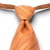 Tangerine Pre-Tied Striped Tie