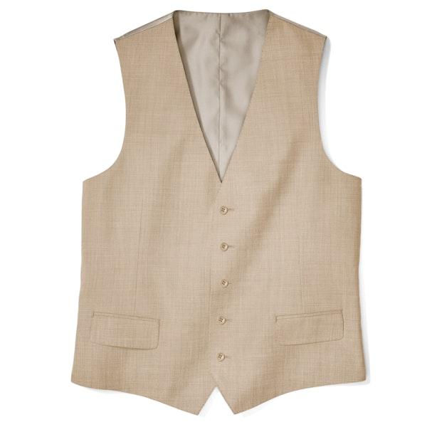 British Tan Suit Vest