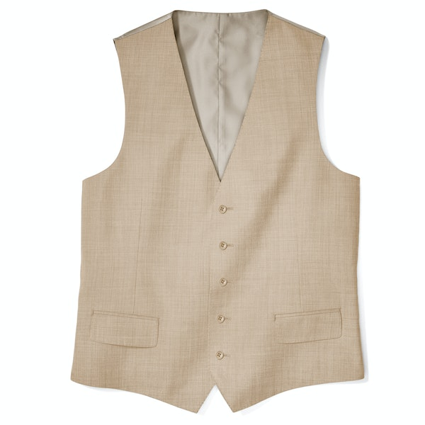 British Tan Suit Vest