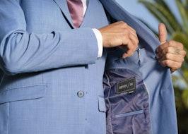 Light blue suit 2020 suit spec close up