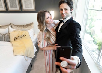 Couple with Rental From Local Online Tuxedo Store