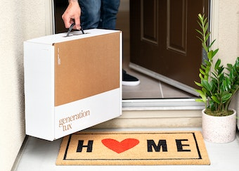 Groom's home try-on suit delivery
