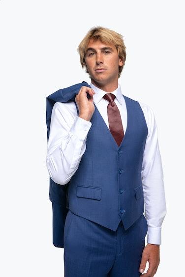 Ian Crane in Generation Tux Blue Suit Vest