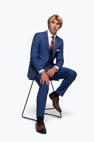 Ian Crane in Navy Blue Mystic Blue Suit