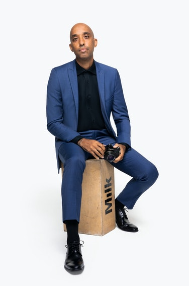 Atiba Jefferson in Generation Tux Navy Blue Suit