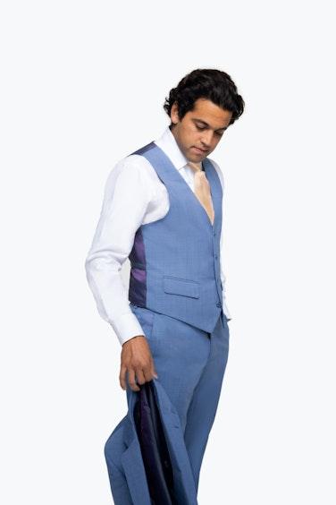 Paul Rodriguez in Light Blue Suit Vest