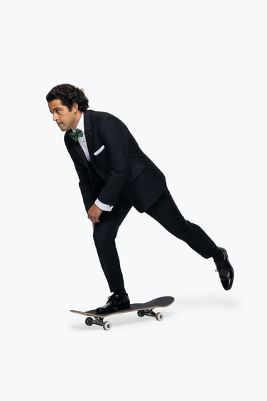 Paul Rodriguez skating in Black Tuxedo