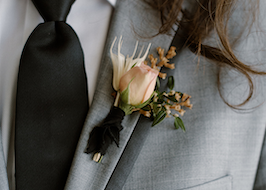 Boutonniere on Light Gray Generation Tux GreyTuxedo