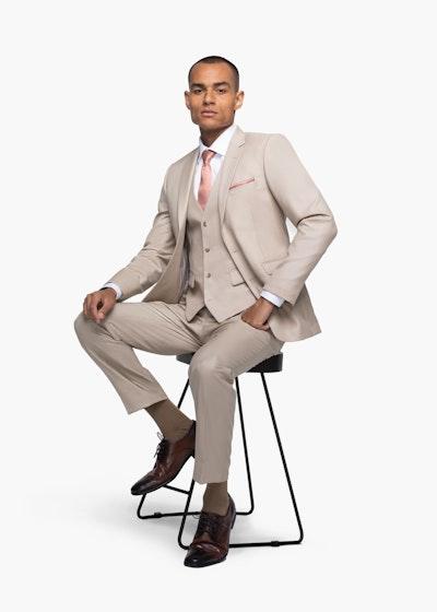 British Tan Notch Lapel Suit