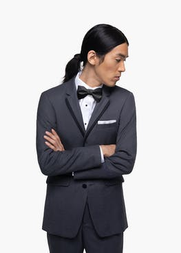Charcoal Gray Notch Lapel Tuxedo