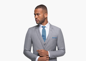 Generation Tux Gray Sharkskin Suit