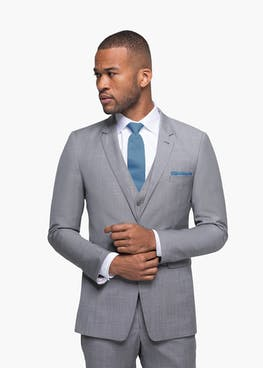 Gray Sharkskin Suit