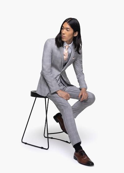 Light Gray Plaid Suit