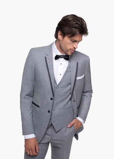 Light Gray Notch Lapel Tuxedo