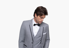 Light Gray Notch Lapel Tuxedo