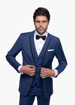Mystic Blue Edge Notch Lapel Tuxedo