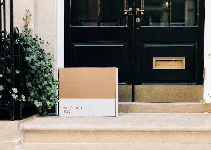 generation tux box sitting on doorstep